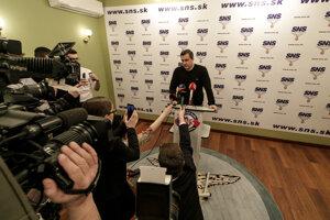 Voľby 2020: Predseda SNS Andrej Danko reaguje na prvé volebné odhady po voľbách.