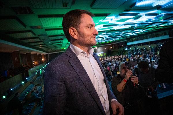 Igor Matovič vo volebnej centrále
