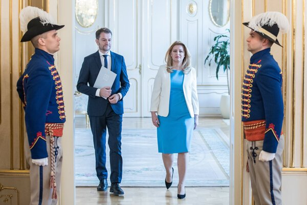Voľby 2020: Igor Matovič na stretnutí s prezidentkou pri príležitosti jeho poverenia zostavením vlády.