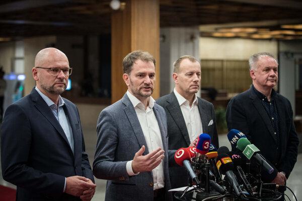 Richard Sulík, Boris Kollár, Igor Matovič a Andrej Kiska.