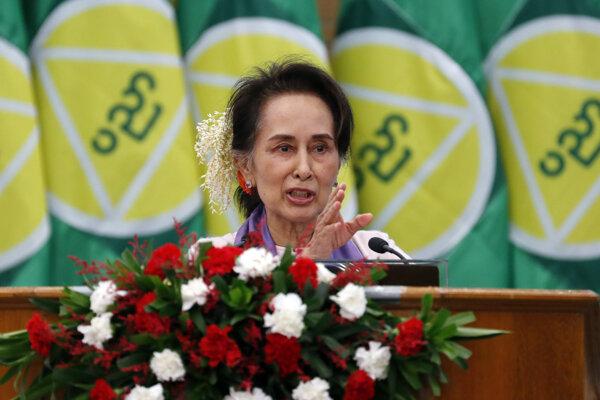 Mjanmarská líderka Aun Schan Su Ťij.