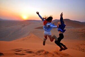 Piesočné duny v Namíbii.