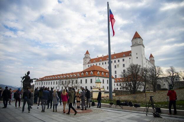 Novinári počas ustanovujúcej schôdze Národnej rady Slovenskej republiky.
