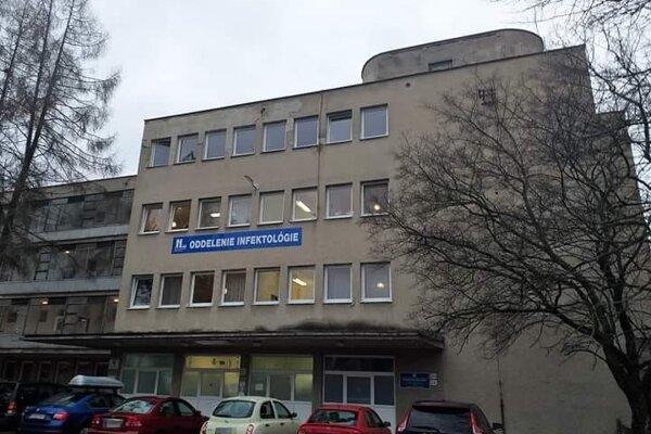 Oddelenie infektológie v Banskej Bystrici.