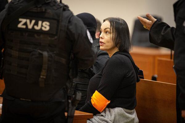 Alena Zsuzsová na súde v prípade vraždy novinára Jána Kuciaka a jeho snúbenice Martiny Kušnírovej.
