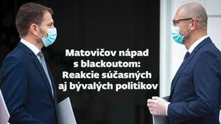 Matovičov nápad s blackoutom. Aké sú reakcie politikov (video)
