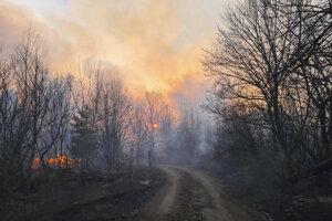 Dvojica požiarov vypukla v sobotu v takzvanej Černobyľskej uzavretej zóne.