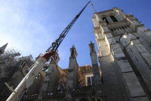 Katedrála Notre-Dame rok po požiari.