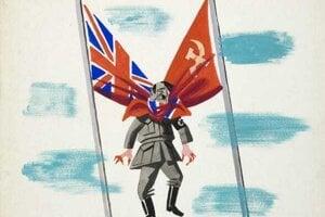 Hitlerov koniec – túžba vojakov znázornená na jednej z karikatúr.