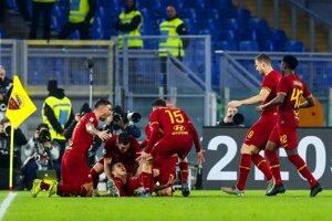 Futbalisti AS Rím.