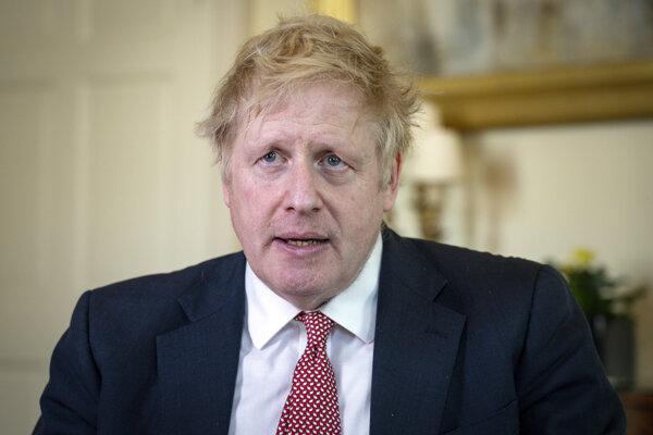 Boris Johnson po prepustení z nemocnice.