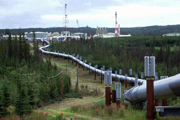 Transaljašský ropovod, čerpacia stanica pri Fairbankse.
