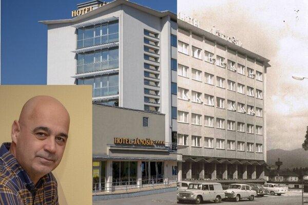 Ján Ďurica porovnáva historické fotografie so súčasnosťou.
