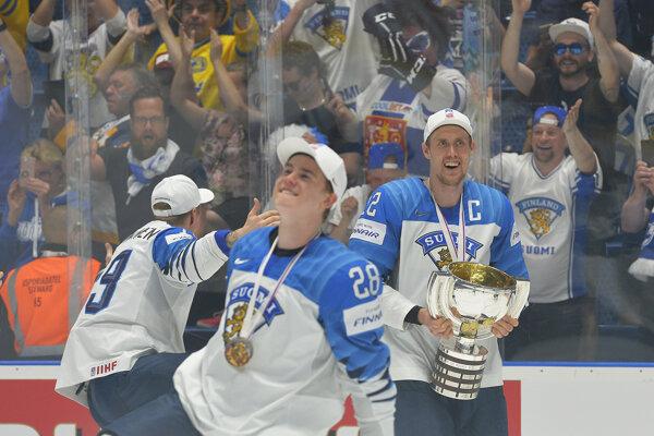 Archívna snímka po finále MS v hokeji 2019.