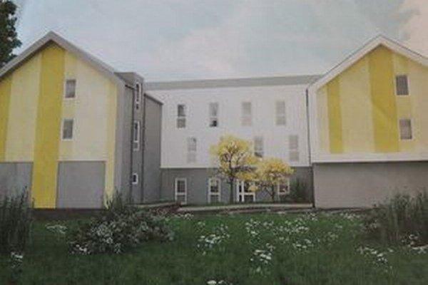 Vizualizácia plánovaného bytového domu.