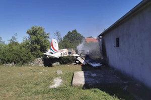 Havária lietadla v Chorvátsku.