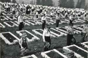 Vzácne fotografie, ktoré Múzeu Janka Kráľa venoval fotograf Martin Martinček, ktorý bol v rokoch 1955 – 1961 riaditeľom a zároveň jediným pracovníkom vtedy nového Múzea Janka Kráľa, zobrazujú dokončenie a slávnostné otvorenie areálu pamätníka a vojenského cintorína 9. mája 1961