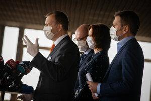 Lídri koalície Boris Kollár, Richard Sulík, Veroníka Remišová a Igor Matovič