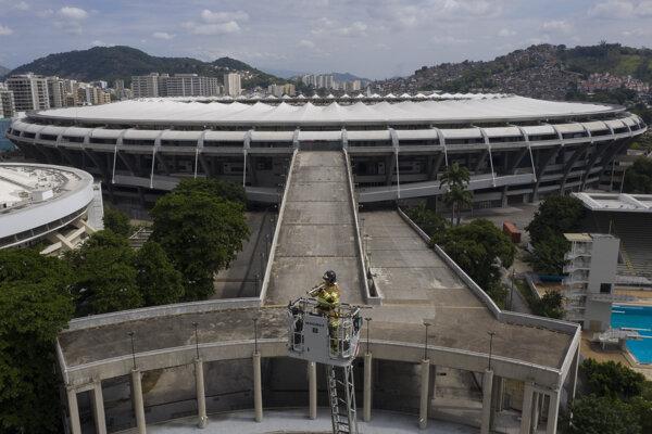 Maracana v meste Rio de Janeiro.