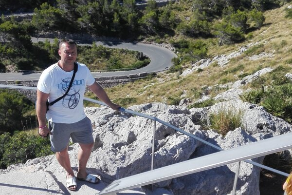 Dušan Pohorelec počas dovolenky.