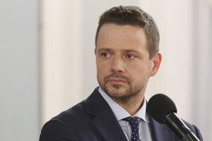 Prezidentský kandidát Rafal Trzaskowski z Občianskej platformy.