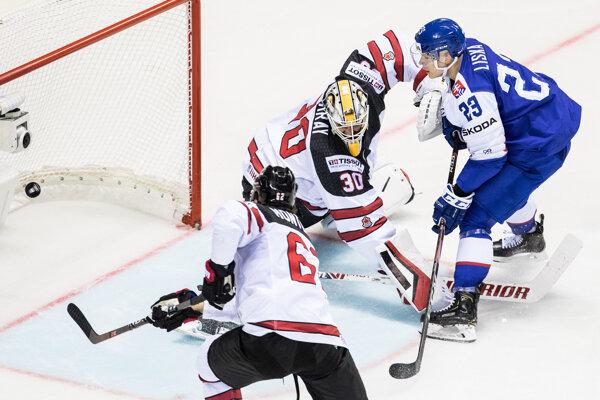 Momentka z MS v hokeji 2019.