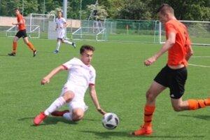Dominik Rucek (v bielom) v drese AS Trenčín.