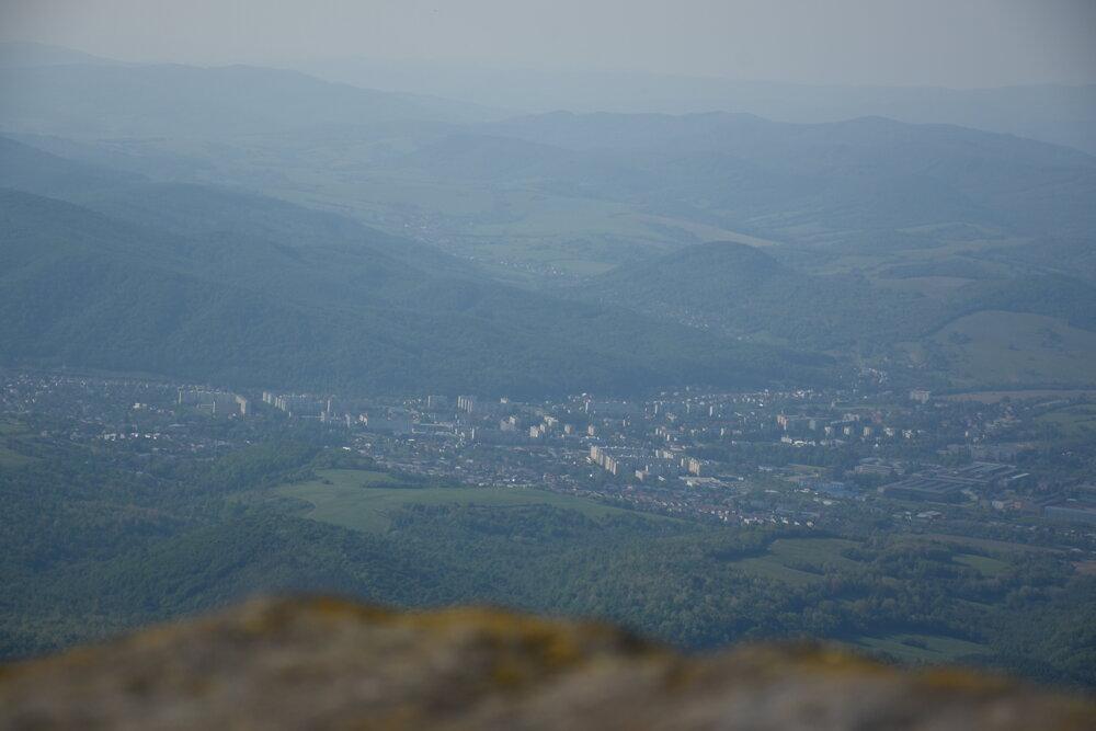 Snina - pohľad zo Sninského kameňa.