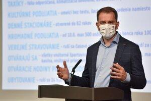 Premiér Igor Matovič predstavuje ďalšie uvoľňovanie opatrení.