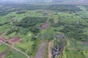 Letecký pohľad na oblasť, kde pomocou špeciálneho laseru LIDAR našli doteraz nepoznanú mayskú stavbu, ktorá je zároveň najstaršou a najväčšou známou. Slúžila pravdepodobne na spoločné astronomické pozorovanie a náboženské slávnosti.