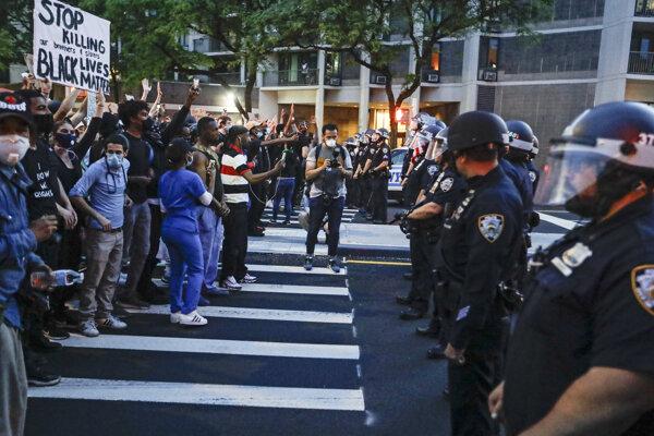 Protesty v New Yorku.