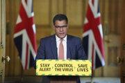 Na archívnej snímke z 12. mája 2020 britský minister podnikania Alok Sharma.