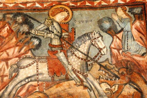 Vzácne fresky kostola v Ponikách