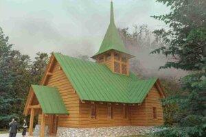 Vizualizácia kostola v Demänovskej Doline.