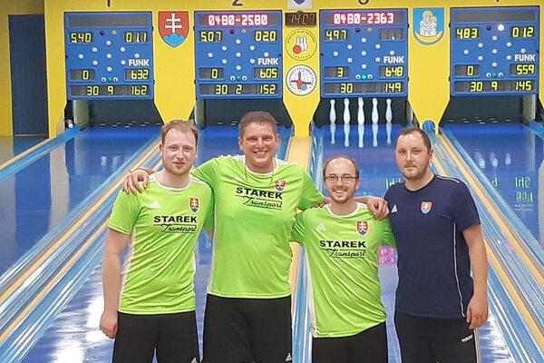 Zľava Marek Juris, Martin Starek, Michal Fábry a Mikolaj Konopka.