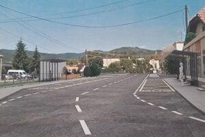Vizualizácia plánovaného autobusového nástupišťa v Nitrianskom Rudne.