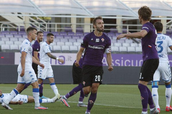 Zápas Fiorentina - Brescia.
