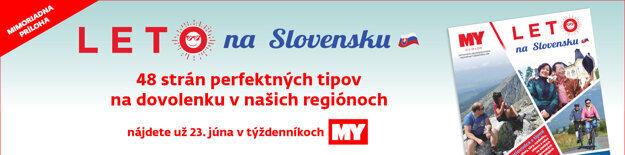 Vo všetkých našich tituloch MY vychádza tento týždeň príloha tipov na leto na Slovensku