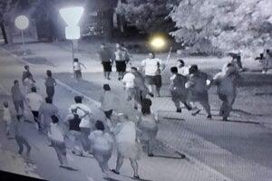 Momentka z incidentu na ulici.