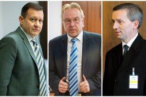 Daniel Lipšic, Ján Šanta a Jozef Čentéš -  pravdepodobní kandidáti na generálneho prokurátora.