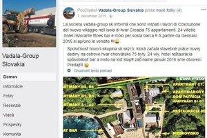 Antonino Vadala sa chválil v roku 2015, že jeho firma Vadala Group stavia Hvar Sport Resort. Igor Sidor tvrdil, že to nie je pravda.