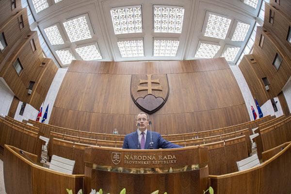 Boris Kollár počas ustanovujúcej schôdze NR SR.