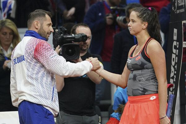 Fedcupový kapitán Matej Lipták a najlepšia slovenská tenistka Viktória Kužmová.