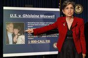 Tlačová konferencia k obvineniu Ghislaine Maxwellovej 2. júla 2020 v New Yorku.