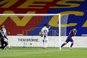 Luis Suárez sa raduje zo svojho gólu.