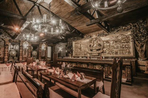 Tradičná časť expozície Nestville Destillery.