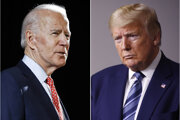 Joe Biden a Donald Trump.