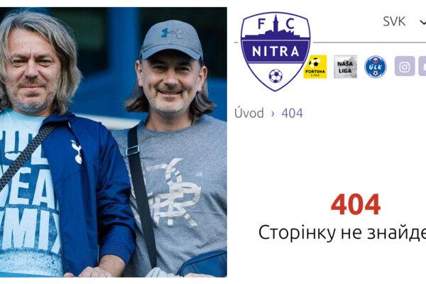Investori z Ukrajiny (vľavo ich predstavitelia Konstantin Sosenko a Andrij Kolesnik) včera podvečer vydali stanovisko, ktoré dnes po kliknutí vykazuje chybu. Po pár minútach po stiahli.