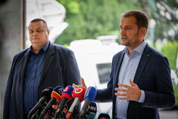 Ján Mikas a Igor Matovič.
