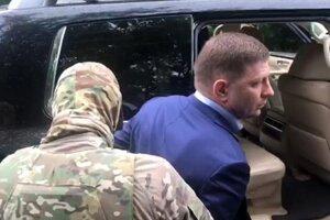 Gubernátor Chabarovského kraja Sergej Furgal počas zadržania 9. júla 2020.